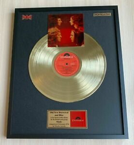 Slade-Old-New-Borrowed-And-Blue-Vinyl-Gold-Record-Mounted-In-Frame