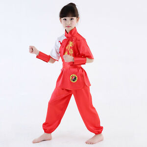 Image is loading Kids-Chinese-Style-Kung-Fu-Costume-Boy-Girl-  sc 1 st  eBay & Kids Chinese Style Kung Fu Costume Boy Girl Dragon Martial Arts ...