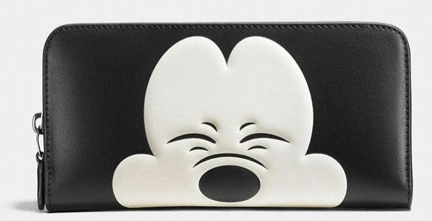 classic fit acc8f 0078f Coach X Disney Mickey Mouse Accordion Zip Wallet Matching Hangtag 54000  54090
