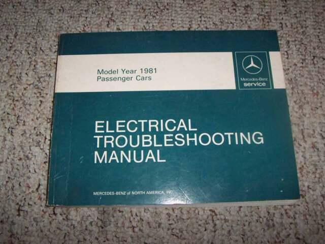 1981 Mercedes Benz 240d 240 D Electrical Wiring Diagram