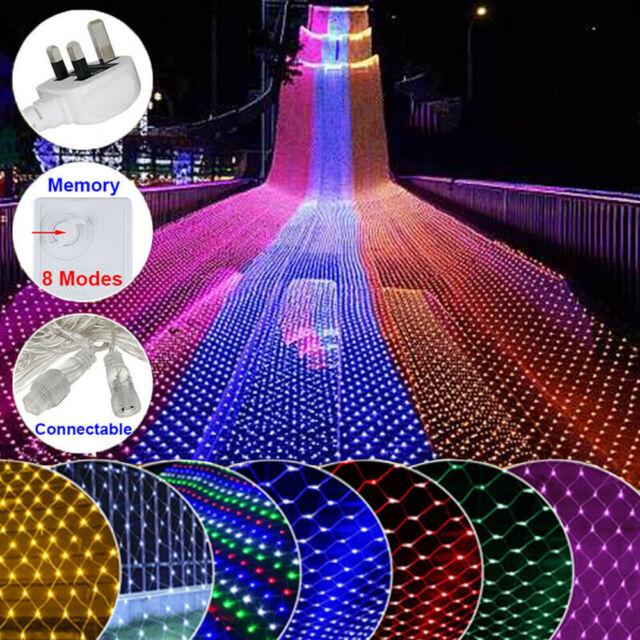 96//200Led Net Mesh LED Lights String Waterproof Chirstmas Party Xmas w// US Plug