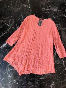 polyester Peach Venus Shirt Neu Terrasse Horatio Champagne Viscose Langarm qpC1w7W7
