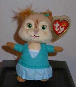 ST* Ty Beanie Baby - ELEANOR (Chipette - Alvin and the Chipmunks) MWMT (STICKER)