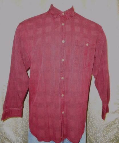 Tommy Bahama Burgundy Red Long Sleeve Casual Shirt