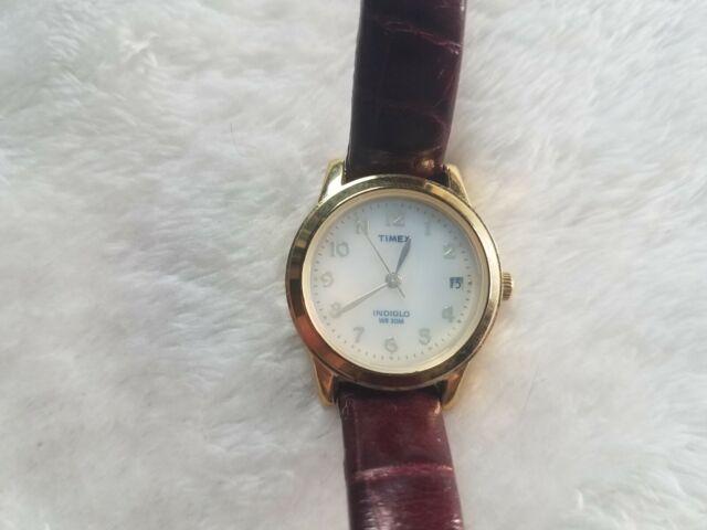 Timex Indiglo Wr30m Gold Metal Weekender Quartz Watch 38mm Speidel Stretch Band For Sale Online Ebay