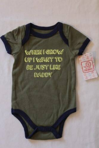 NEW Baby Boys Bodysuit 6-9 Months Creeper Outfit 1 Piece Dad Daddy Green