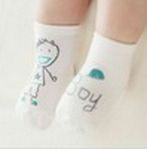 Newborn Cartoon Socks 100/% Cotton Baby No-slip Infant Boy Girl Unisex Gift Cute