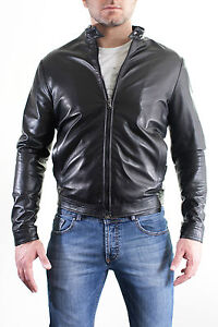 Uomo Blouson Pelle Giacca Veste Men Giubbotto Di In Leather Jacket qwwzBxICt