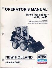 New Holland L 454 Amp L 455 Skid Steer Loader Operators Manual