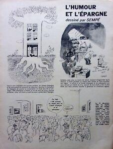 Dessin-de-presse-L-039-HUMOUR-ET-L-039-EPARGNE-par-SEMPE-en-1961-ref-57031