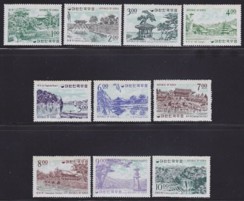 Korea Scott # 434-443 VF never hinged set nice colors cv $ 85! see pic!
