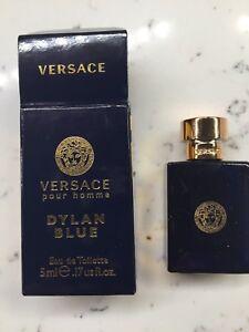 83b2bbd2005 NEW Versace Dylan Blue for Men Eau de Toilette Miniature Splash 0.17 ...