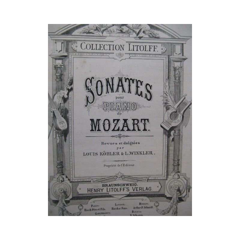 MOZART W. A. Sonates reliées Piano XIXe partition sheet music score