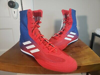 Adidas Box Hog Plus Boxing Shoes Sparring Boots DA9896 Mens Size 12 Red Blue NEW