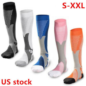 1d0dc4d910 1-2pairs Compression Socks Sports Men Women Calf Shin Leg Running ...