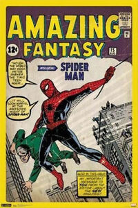 MARVEL-COMIC-BOOK-COVER-AMAZING-FANTASY-SPIDERMAN-POSTER-NEW-24x36-FREE-SHIP