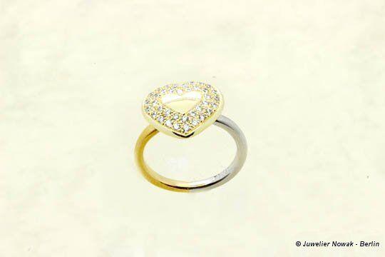 Ring Herz mit 37 Diamanten vom Juwelier Nowak