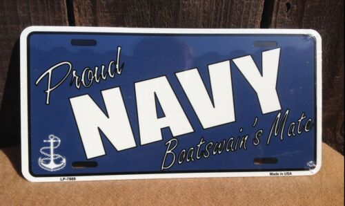 Proud Navy Boatswains Mate Wholesale Metal Novelty Wall Decor License Plate