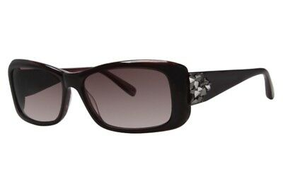 New Authentic Vera Wang V252 Burgundy Sunglasses With Carrying Pouch