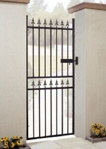 Image Is Loading WROUGHT IRON METAL GARDEN GATE Castle Tall 2ft6