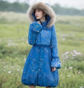 Frakke Outwear Chinese Women Print Polstret Jakke Hooded Parka Bomuld Floral Winter w4ZqfxYZp