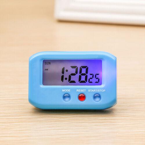 Digital LCD Alarm Large Screen Time Clock Battery Powered Snooze Temperature DE