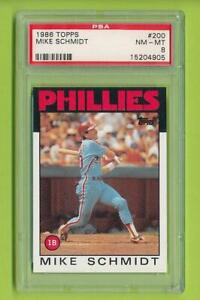 1986-Topps-Mike-Schmidt-200-Philadelphia-Phillies-PSA-8
