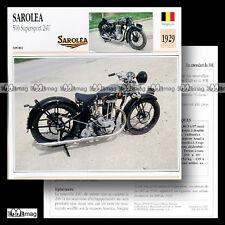 #030.15 SAROLEA 500 SUPERSPORT 24U 1929 (24-U) Fiche Moto Motorcycle Card