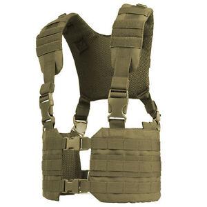 CONDOR-MOLLE-Modular-Tactical-Nylon-Ronin-Chest-Rig-Vest-mcr7-COYOTE-TAN