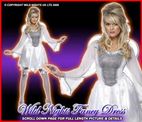 CHRISTMAS FANCY DRESS # WHITE WINTER FAIRY MED 12-14