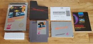 Metroid-Nintendo-NES-Game-Complete-CIB-Five-5-Screw-w-Box-Poster-amp-Manual-Lot