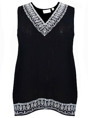 Plus Size Women Lace Long Sleeve Shirt Tops Ladies Casual Loose Blouse UK 20-28