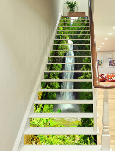 Details about  3D waterfall ladder tree Risers Decoration Photo Mural Vinyl Decal Wallpaper US