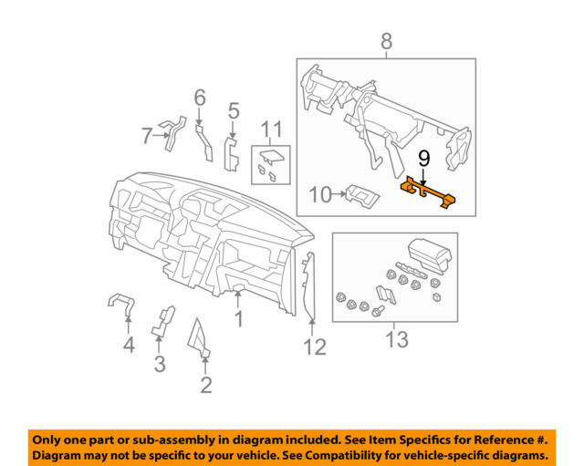 Honda Genuine 77551-SZA-A00 Glove Box Frame