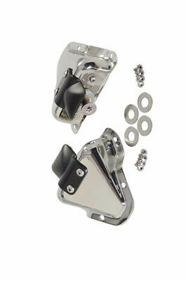 Kentrol 30513 Polished Stainless Steel Interior Door Latch Brackets for Wrangler