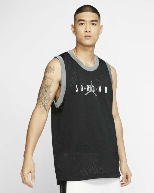NIKE Men's Jordan Jumpman DNA Basketball Mesh Vest Jersey Black MEDIUM