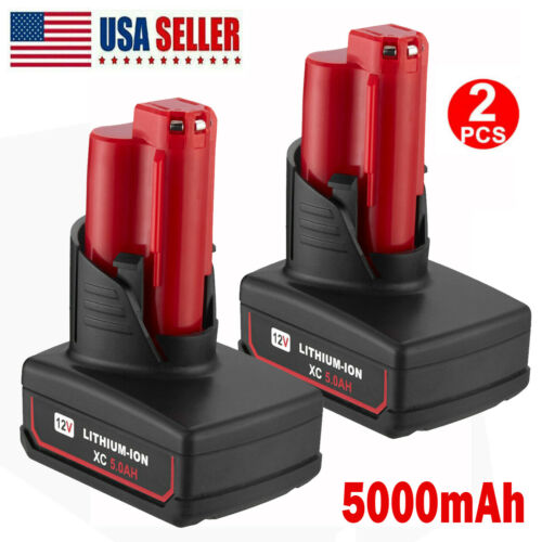 For Milwaukee M12 12 Volt XC 6.0 Extended Capacity Battery 48-11-2460 2401 5.0AH