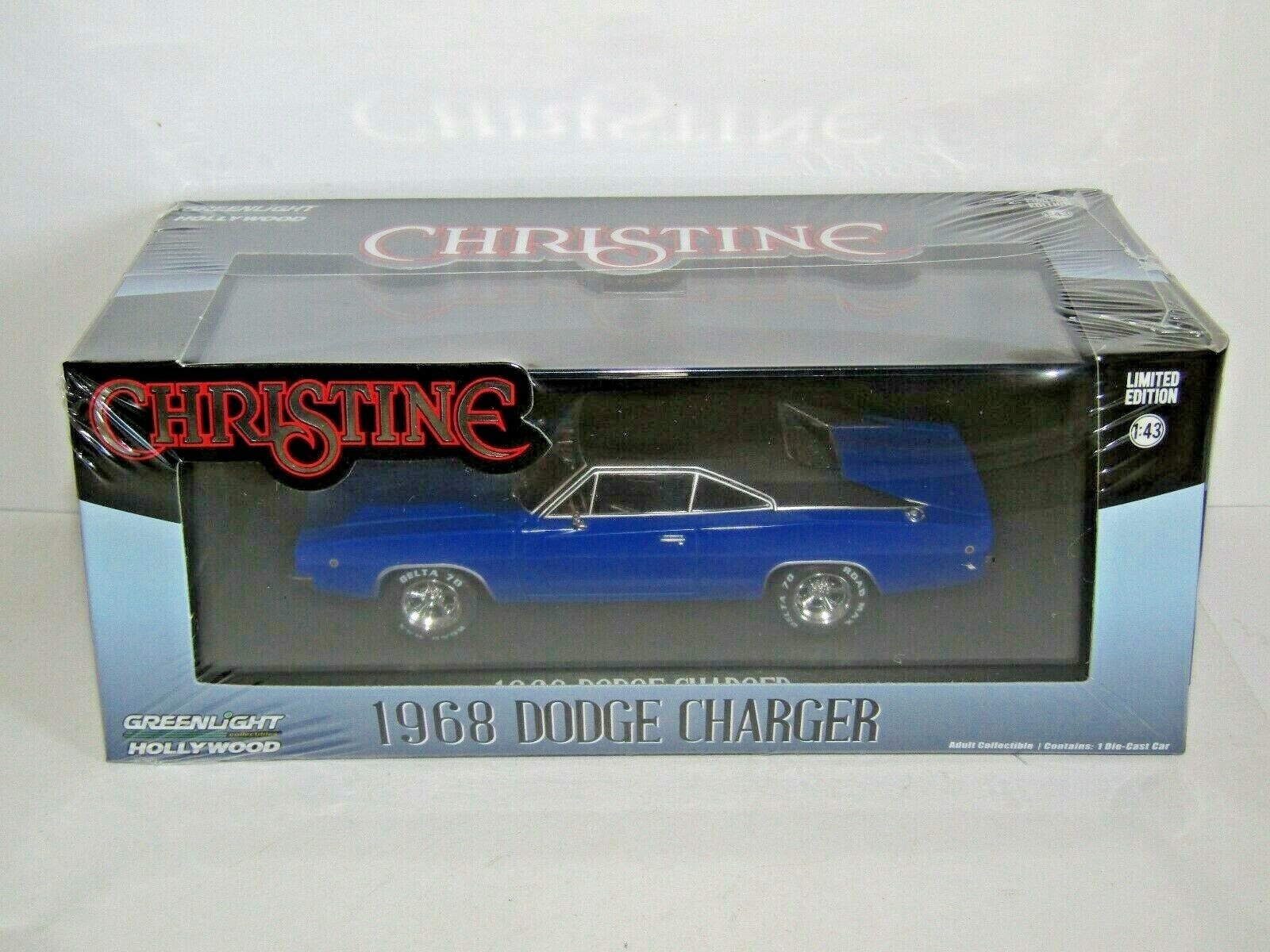 GREENLIGHT 1968 DODGE CHARGER blueE CHRISTINE 1 43 86531