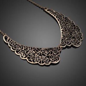 Gift-Chic-Hollow-Carved-Bib-Vintage-Metal-Choker-Collar-Necklace-Pendant