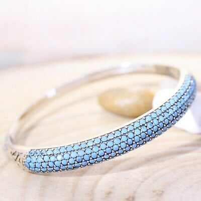 925 Sterling Silver Handmade Authentic Turkish Turquoise Bracelet Bangle Cuff
