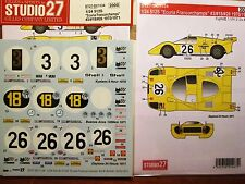 DECAL: 1/24 S27 1970/71 ECURIE FRANCORCHAMPS RACING FERRARI 512S