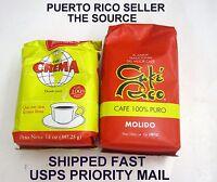 Cafe Puertorico Rico Crema 14 Ozcoffee Caribbean Hot Roasted Beverage Drink 2pks