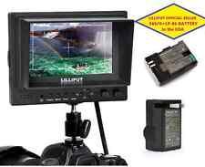"Lilliput 5"" 569/O  HDMI In&out  BNC Ypbpr + AV Camera-top Monitor+ LP-E6 Battery"