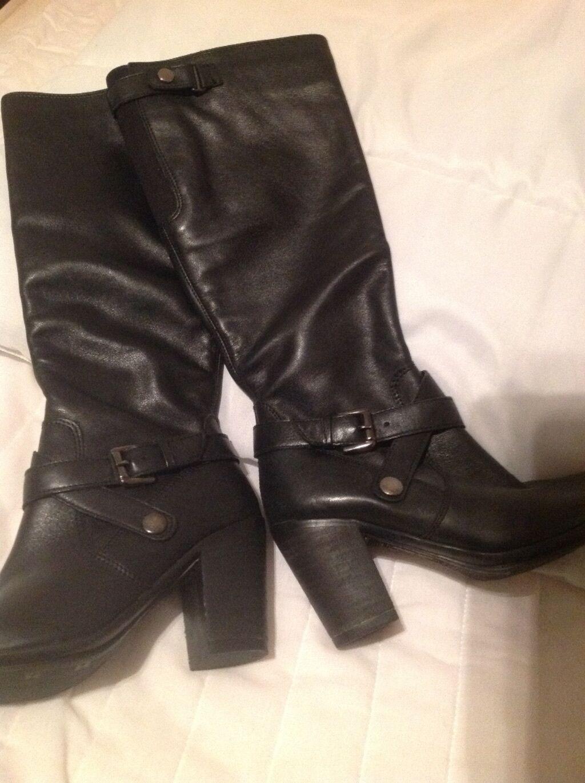 botas botas botas De Cuero Negro Tamaño 4  muchas concesiones