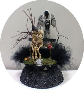Image Is Loading Skeleton Angel Of Death Reaper Halloween Wedding Cake