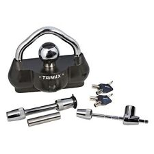 Trimax Deluxe 3 Piece Combo, Trailer Lock, Coupler Lock, Receiver Hitch Pin Lock