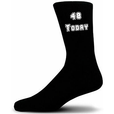 40 Today on Black Socks, Great 40th Birthday Gift