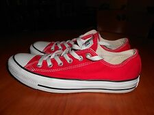 Converse All Star Red Low-Top Shoe US Men's size 7 Women's size 9