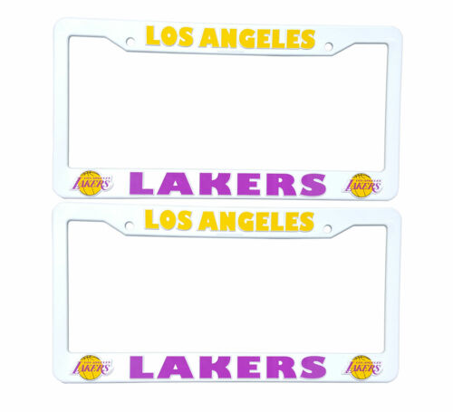 NBA LA Lakers Plastic License Plate Frame 6.5/'/' x 12.5/'/' Inches Set of 2