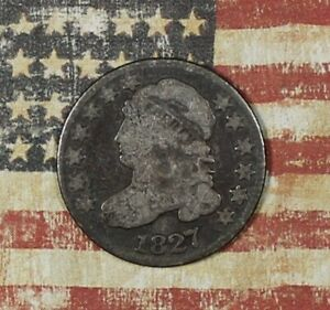 1827 Capped Bust Silver Dime Collector Coin For Collection. ***FREE SHIPPING***